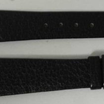Movado vintage leather strap black  mm 20/14 newoldstock rare