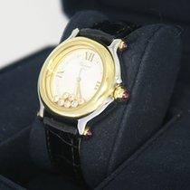 Chopard Happy Sport Medium Uhr mit 7 Brillanten und 5 Rubine...