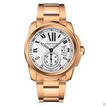 Cartier Calibre de Cartier w7100018 18kt Rose Gold Silver Dial...