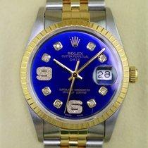 Rolex Date 34 mm Gold & Stahl, Diamant 6 + 9 Zifferblatt