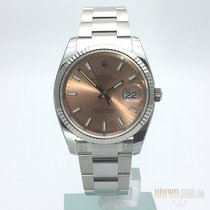 Rolex Oyster Perpetual Date Weißgold Lünette 115234 Pink