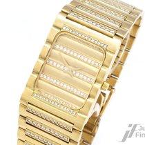 Geneve 18K/750 Gelbgold - Quarz - 241 Diamanten ca. 5ct TW/VVS...