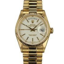 Rolex DAY DATE 18038 PORCELAIN DIAL YELLOW GOLD