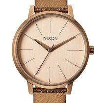 Nixon A108-1923 Kensington Leather Rose Gold Shimmer 37mm 5ATM