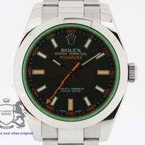 Rolex Milgauss Black Dial 116400 Box & Papers 2011