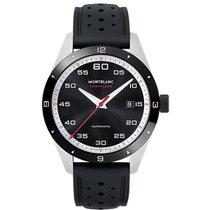 Montblanc TimeWalker Date Automatic black rubber strap