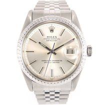 Rolex Datejust 1603 silver dial special fluted bezel