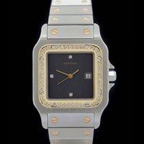 Cartier Santos Ref.: 1172961 - Grosses Modell - Edelstahl/Gelb...
