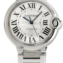 Cartier Ballon Bleu 36mm Silver guilloché Dial Automatic Women...
