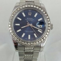 Rolex Datejust Ii Mens 41mm 116334 - 7ct Diamond Bezel &...