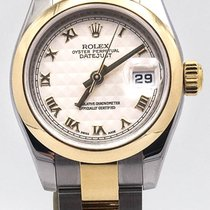 Rolex Datejust 26 Cream Pyramid Dial Stainless Steel & 18k...