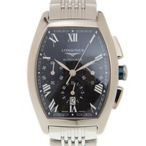 Λονζίν (Longines) Evidenza Stainless Steel Black Automatic...