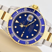 Rolex Two Tone 18k Stainless Steel Submariner Blue Dial Bezel...