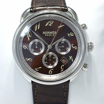 Hermès Arceau Chronograph 43mm Automatic Chocolate Watch...