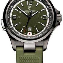 Victorinox Swiss Army Night Vision Black Ice green Herrenuhr...