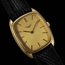 Longines Mens Classic Handwound Dress Watch - 18K Gold Plated...