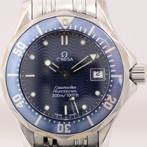 Omega Seamaster Professional Lady 300m Edelstahl Quarz blue
