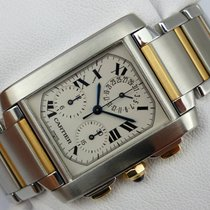 Cartier Tank Française Chronograph Chronoflex - 2303 - Stahl-Gold