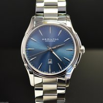 Hamilton JAZZMASTER VIEWMATIC AUTO Steel-Blue Dial 34mm...