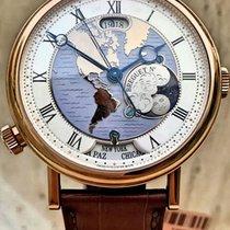 Breguet Classique Hora Mundi 5717 Brown Strap LunarPhase...