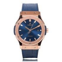 Hublot Classic Fusion Rose Gold Blue Mens Watch 542.OX.7180.LR