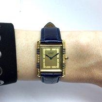 Cartier Tank Gp 925 Argent Ladies Watch W/ Diamonds &...
