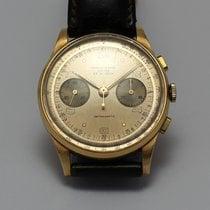 Chronographe Suisse Cie vintage, 18 ct. gold, 50s