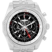 Breitling Bentley Gmt Chronograph Black Dial Watch Ab0431 Box...