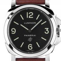 Panerai Luminor Base Logo Acciaio Stahl Handaufzug Armband...