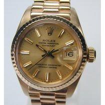 ロレックス (Rolex) Oyster Perpetual, 750/- Gelbgold-Damenarmbanduhr