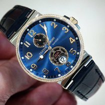 Ulysse Nardin Maxi Marine Blue Dial Diamond Steel and Gold Watch