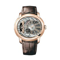 Audemars Piguet Millenary 4101 Rose Gold Brown Strap Ret:$40,300