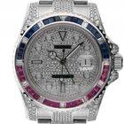 Rolex GMT Master II Custom Stahl Full Diamond 7,5ct Rubine...