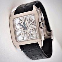 Cartier Santos-Dumont Skeleton Dial 18 kt White Gold Watch
