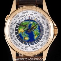 Patek Philippe 18k Rose Gold Unworn Enamel Dial World Time...