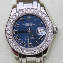 Rolex Ladies Pearlmaster Masterpiece Watch White Gold 80319...