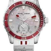 Ulysse Nardin DIVER LADY Steel Bezel Red Rubber White And Red...