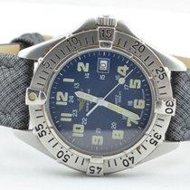 Breitling Colt Quartz Herren Uhr Stahl/stahl 37mm Quartz Blau...