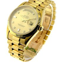 Rolex Used 18238_used Mens Yellow Gold Double Quick PRESIDENT...