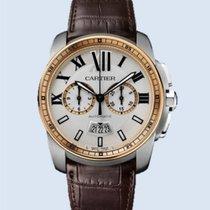 Cartier Calibre de Cartier Chronograph Stahl Rotgold weiß...