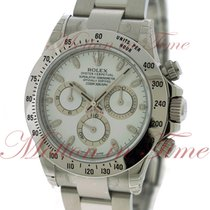 Rolex Cosmograph Daytona, White Dial - Stainless Steel on...