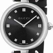 Gucci Diamantissima Medium Quartz Black Dial With Diamonds 32mm R
