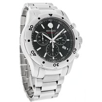 Movado Series 800 Mens Black Swiss Quartz Chronograph Watch...