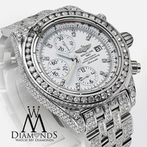 Breitling Galactic Chronograph Ii 44mm Fully Diamond Watch...