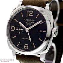 Panerai RADIMIR 1940 3-Days GMT PAM 657 Stainless Steel Box...