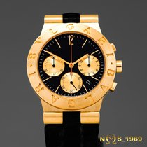 Bulgari Diagono  Ch35G Chronograph 18K Gold Box & Papers