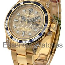 Rolex Unworn 116758SA GMT Master II Yellow Gold with Pave...
