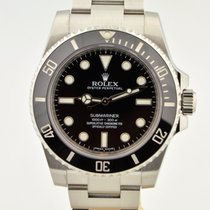 Rolex Submariner Stainless Steel Black Ceramic 114060 No Date...