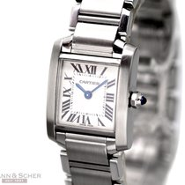 Cartier Tank Francaise Lady Ref-2384 Stainless Steel Bj-2003