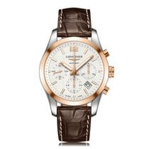 Longines Conquest Classic Steel & Rose Gold Mens Watch...